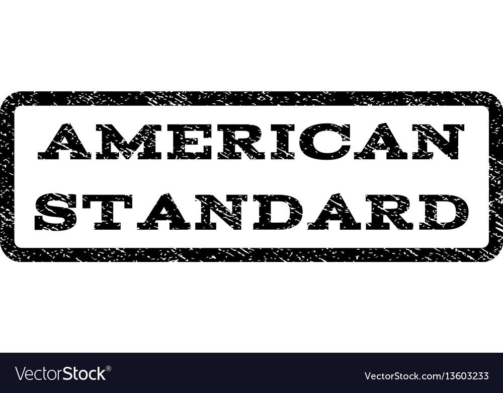 American standard watermark stamp
