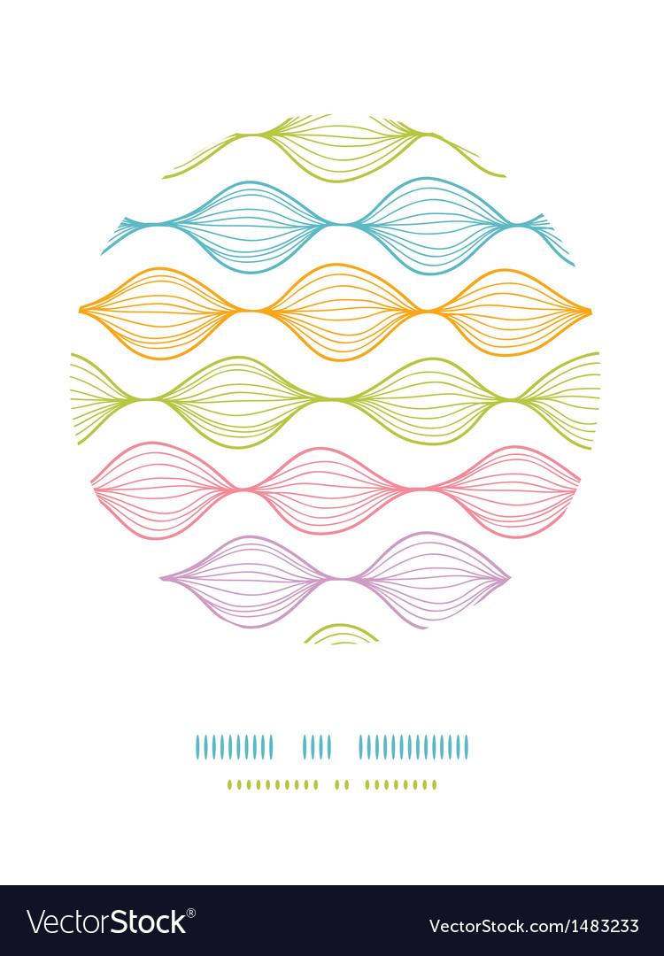 Colorful ogee horizontal striped circle decor