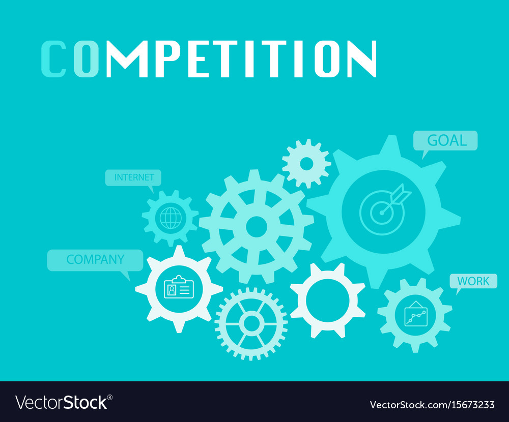 Competition graphic for business concept