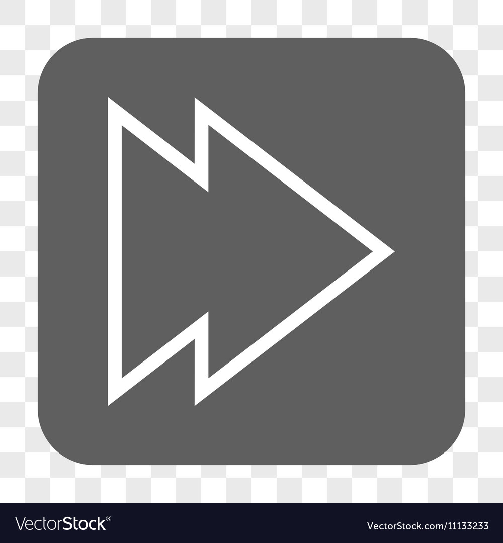 Direction Right Rounded Square Button vector image