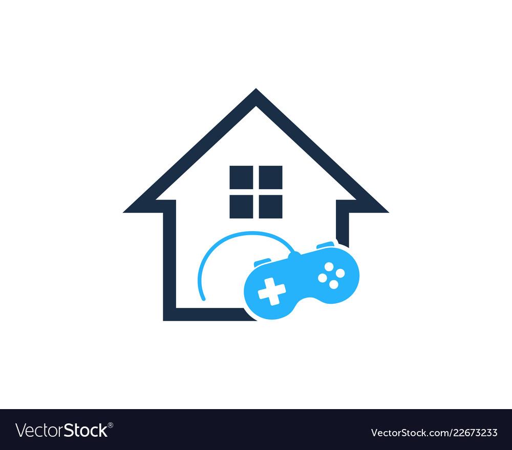 Game House Logo Icon Design