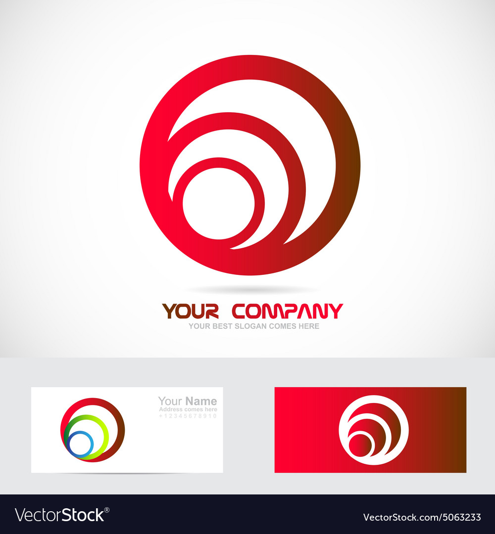 Red circle business logo vector image