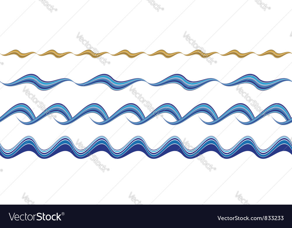 Seamless wavy borders vector image