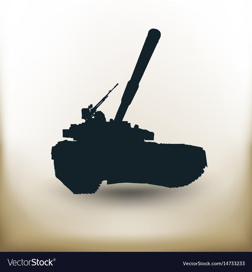 Simple battle tank vector image