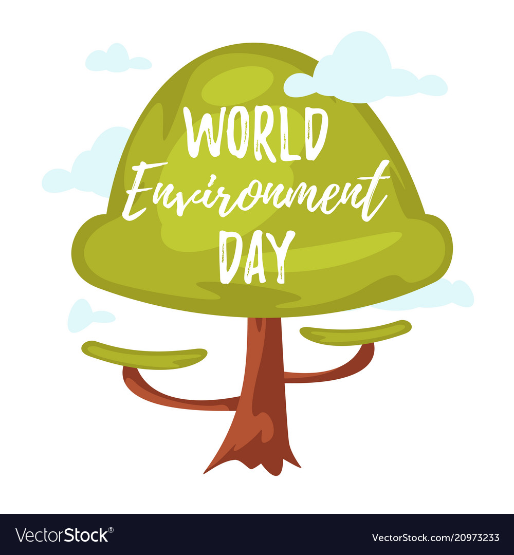 World environment day greeting card