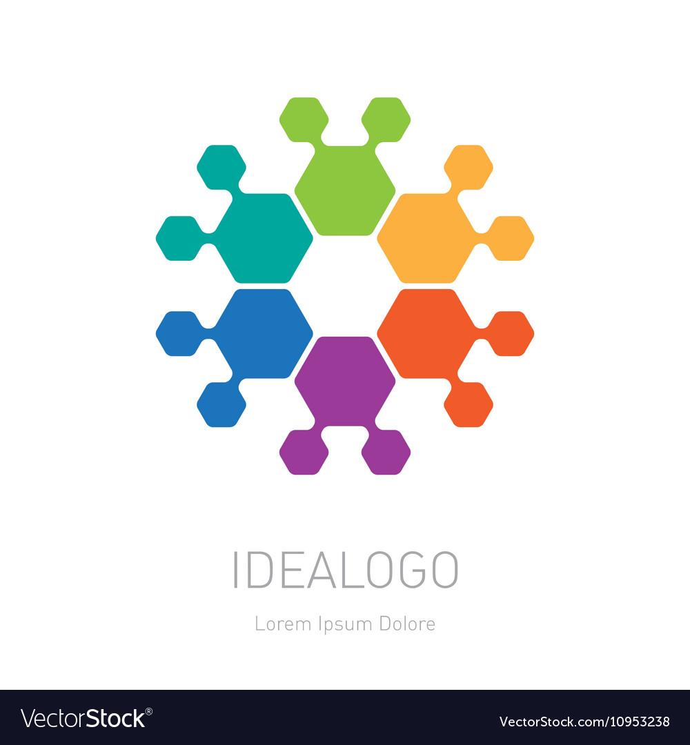 Abstract Logo look like flower logotype design