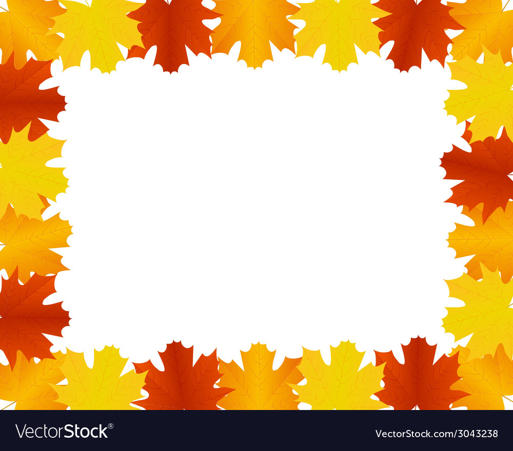 autumn leaves border royalty free vector image