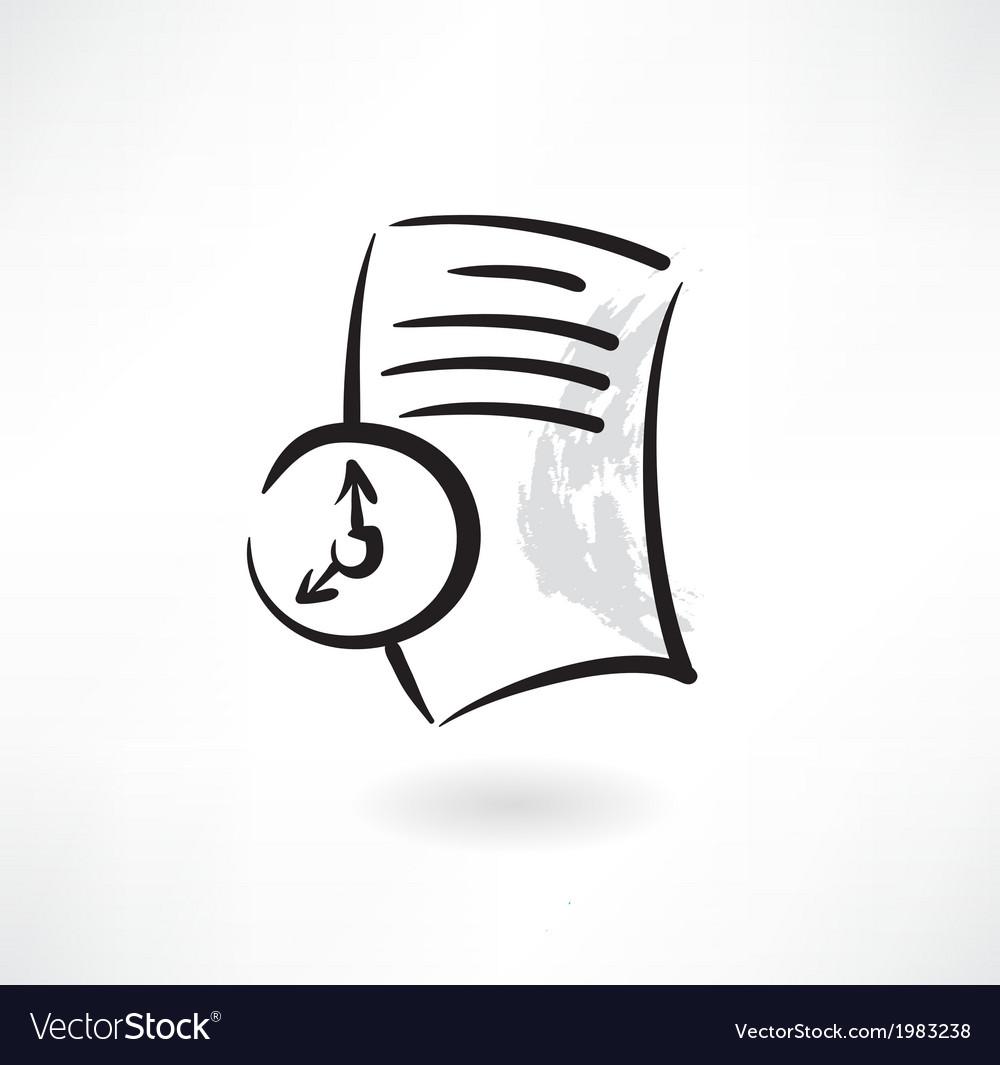 Document loading grunge icon