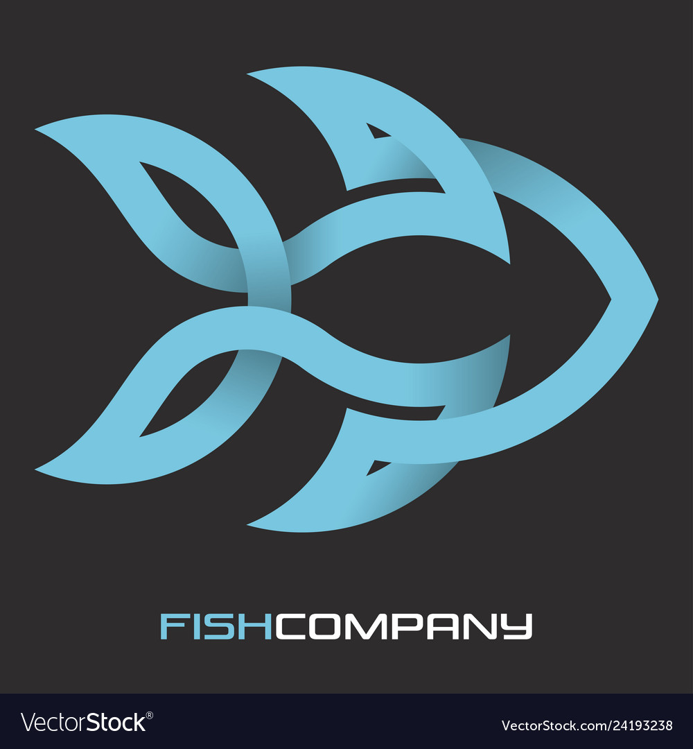 Fish from a solid line logo