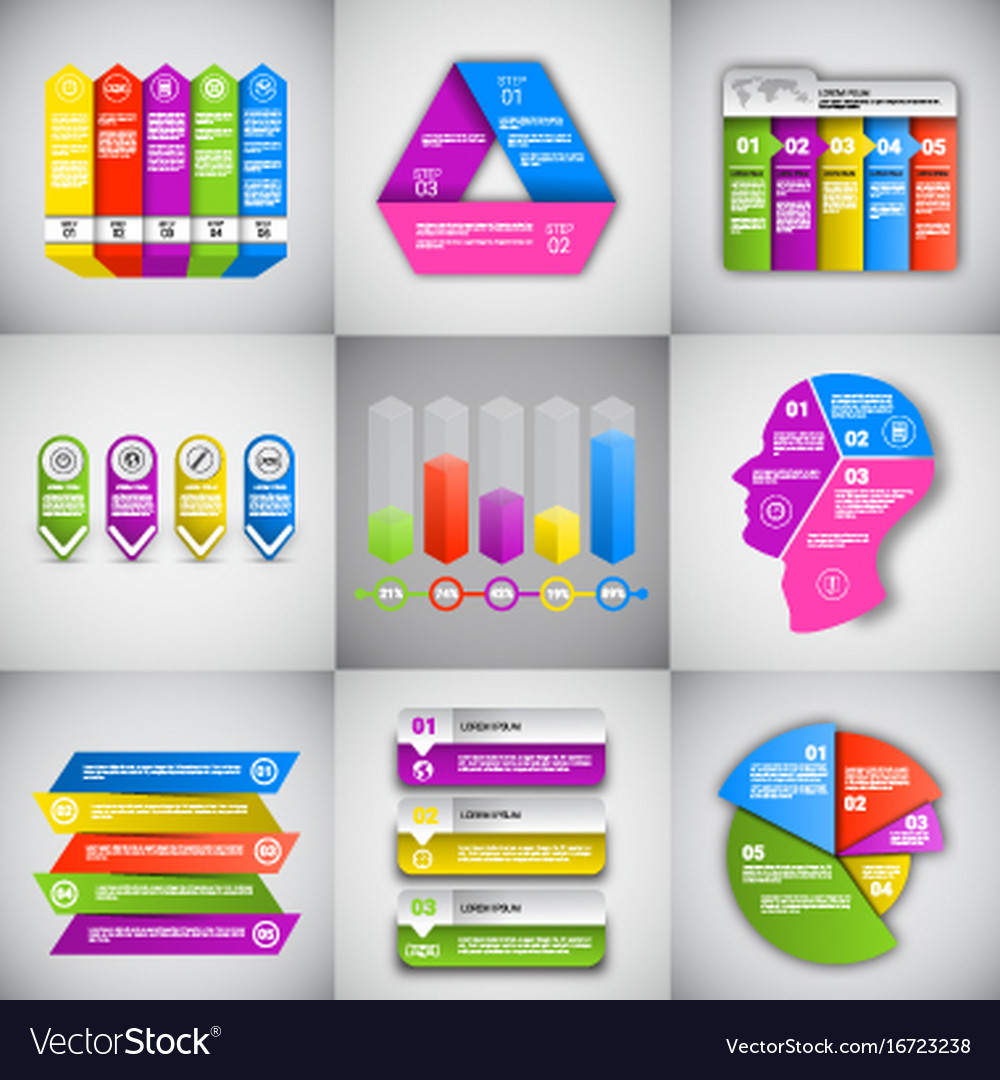Headline infographic set design business data