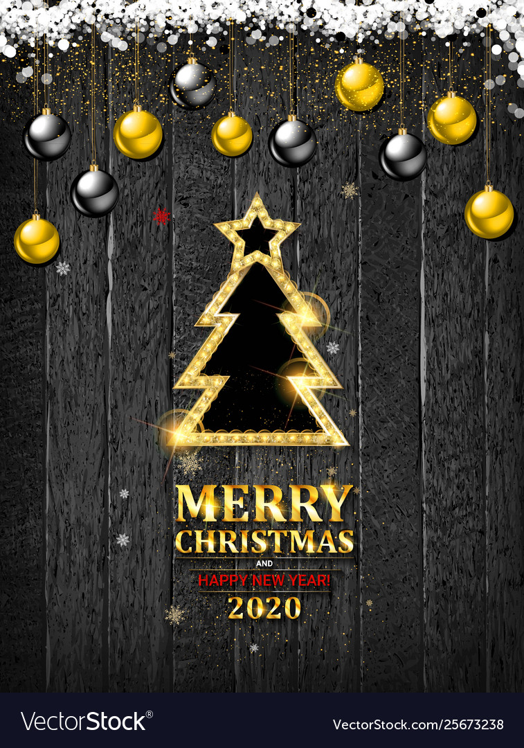 Merry Christmas Happy New Year 2020 Images Merry christmas and happy new year 2020 Royalty Free Vector
