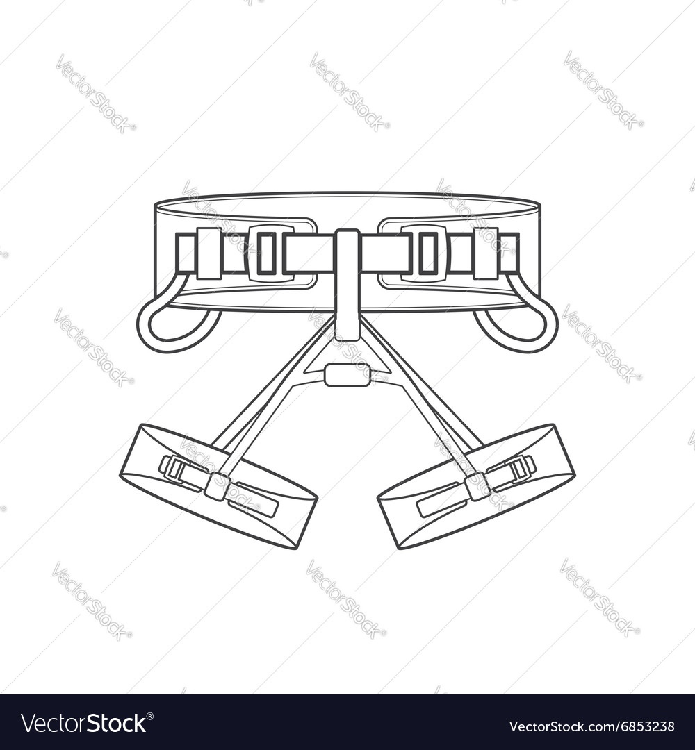 Outline alpinism equipment harness icon