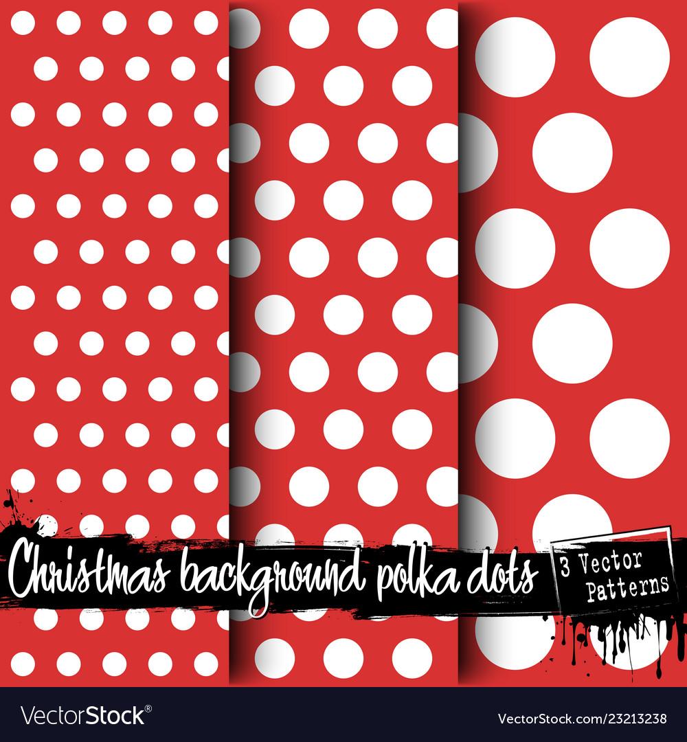 Set of christmas polka dot backgrounds