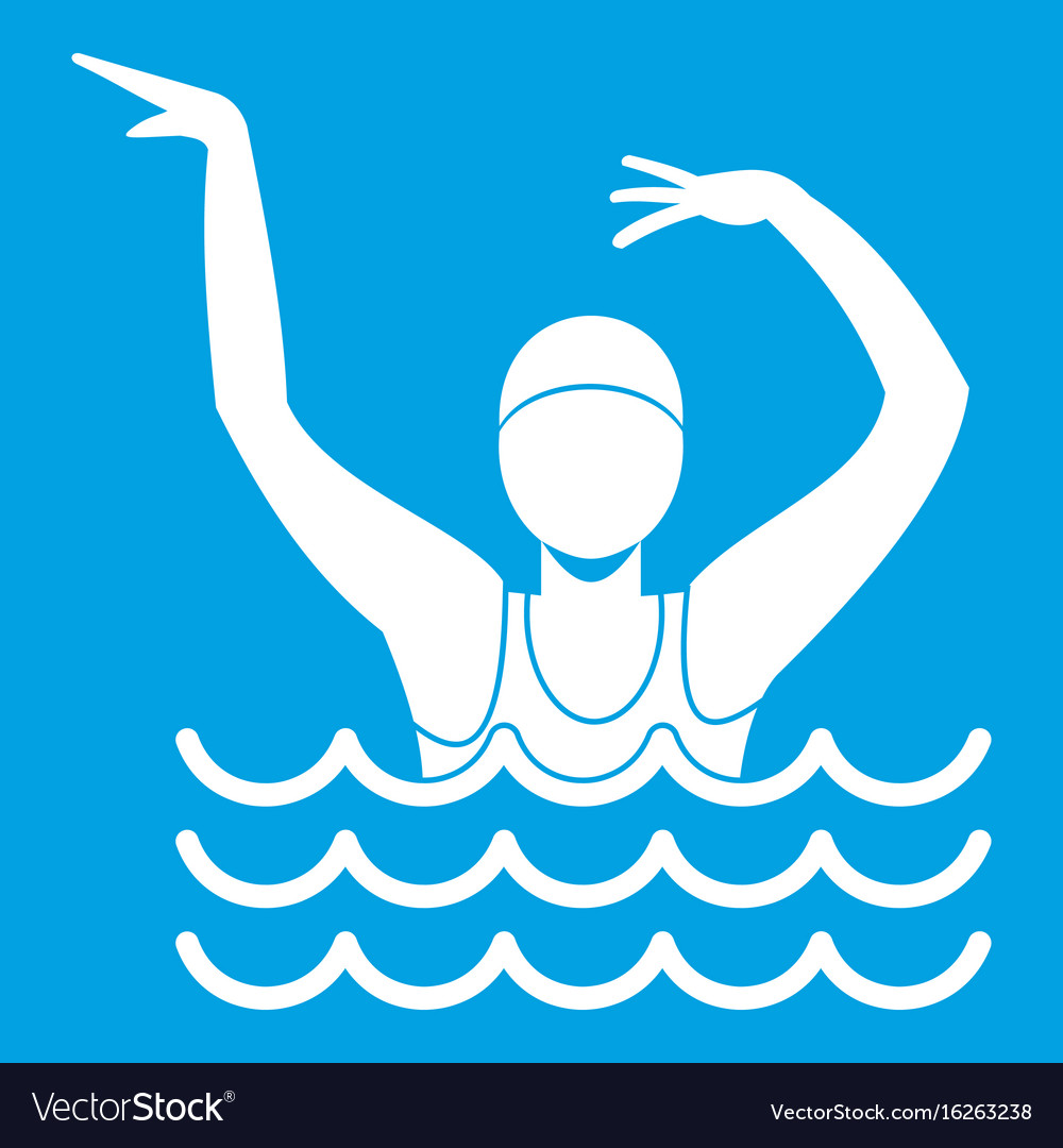 Swimmer in a swimming pool icon white