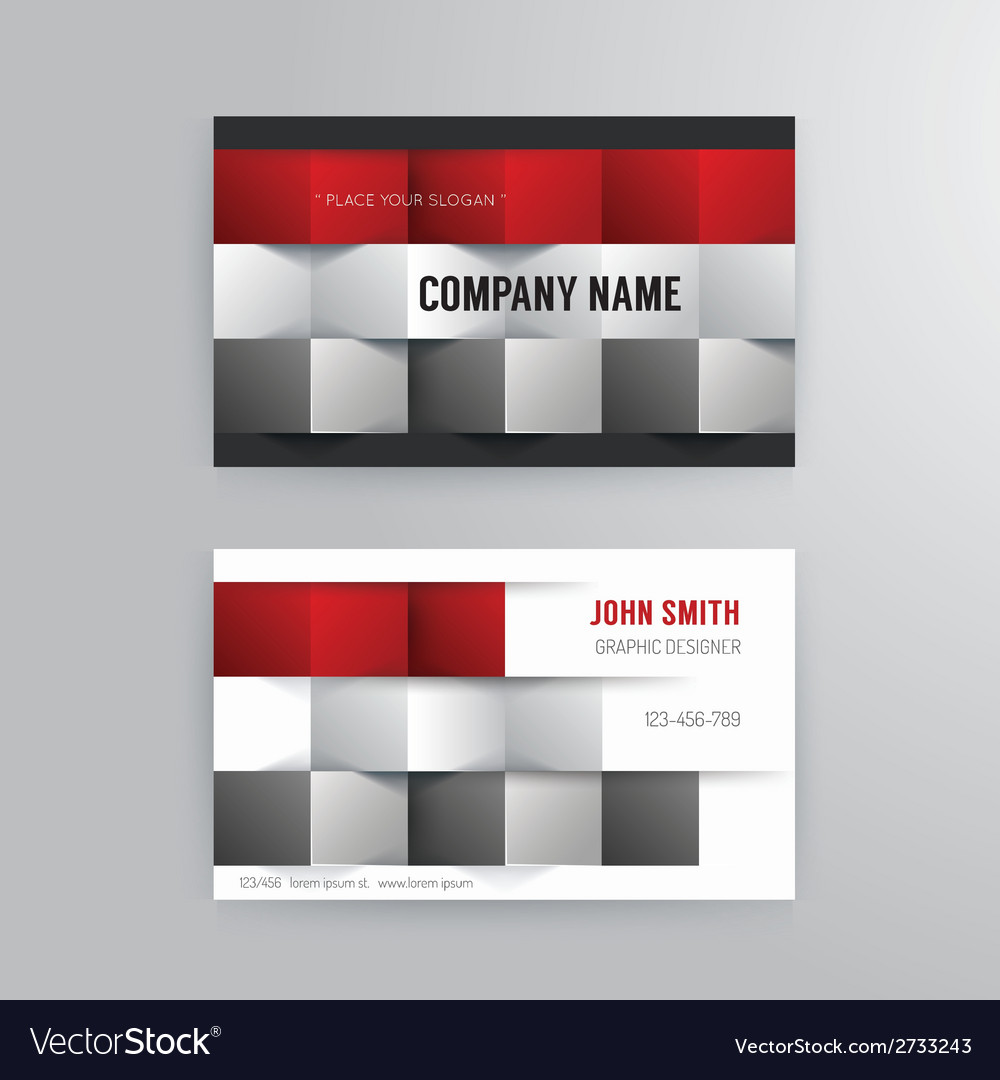 Business card template modern abstract concept vector image