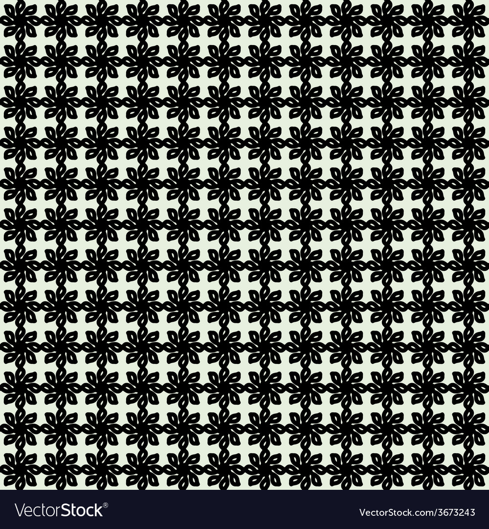 Floral Seamless Pattern Geometric Background vector image