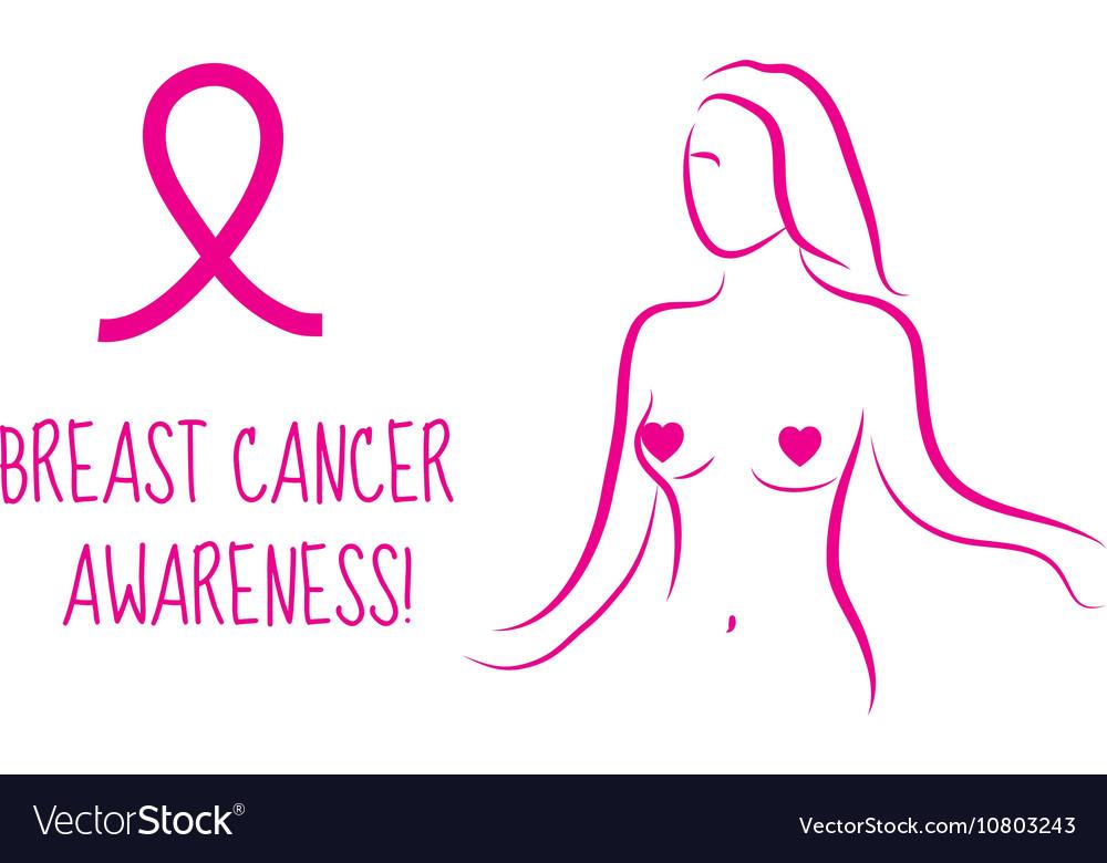 Pink ribbon Breast cancer awareness symbol