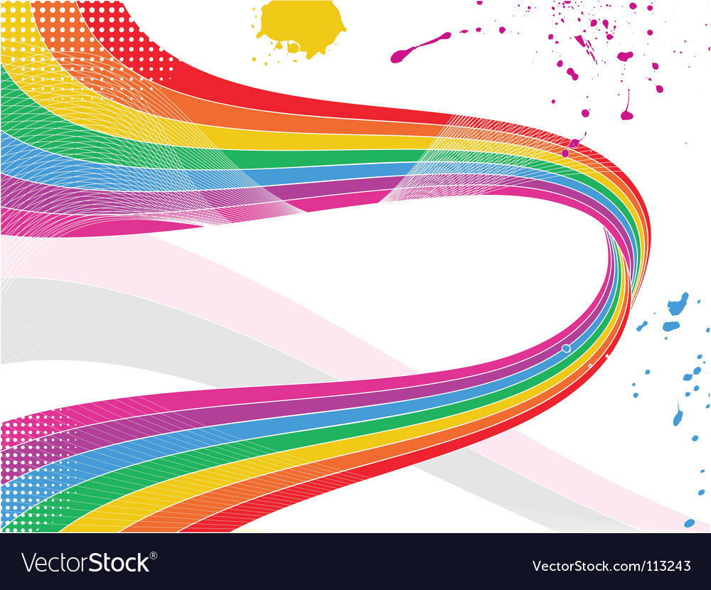 Rainbow wave background