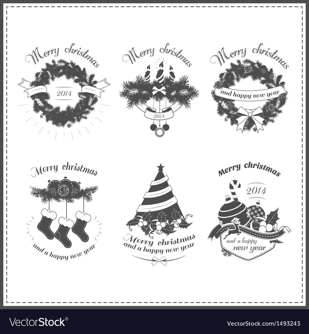 Set of Christmas design elements