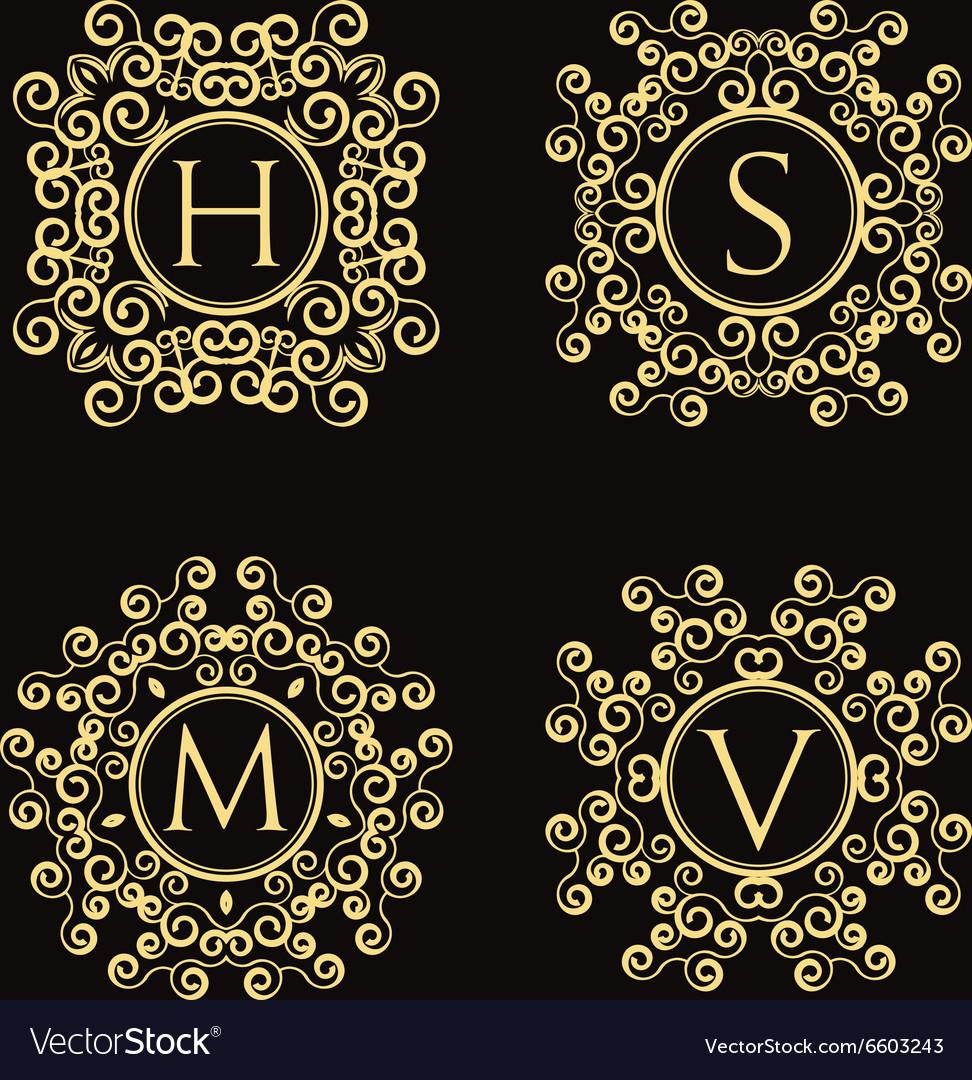Set of vintage monogram