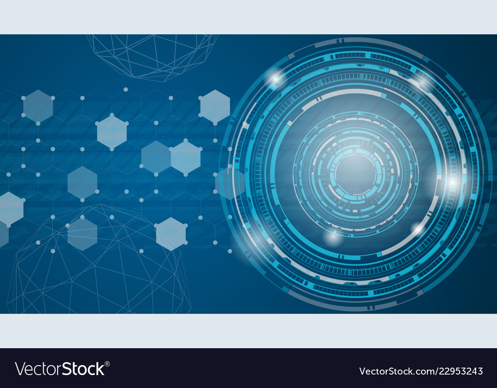 Technology abstract background blue futuristic