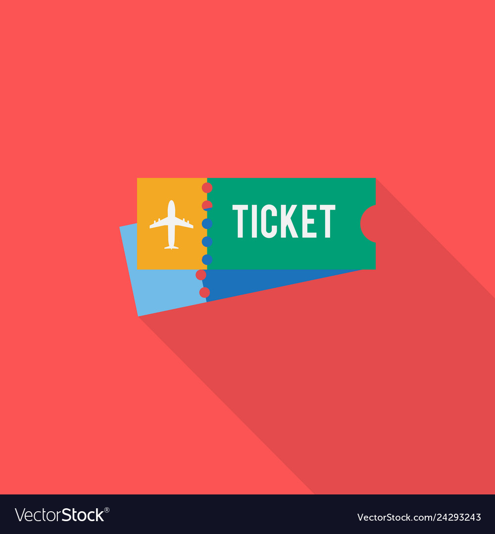 Ticket icon set of great flat icons with style