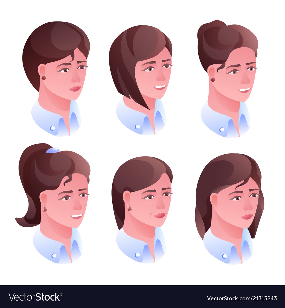 Woman head hairstyle