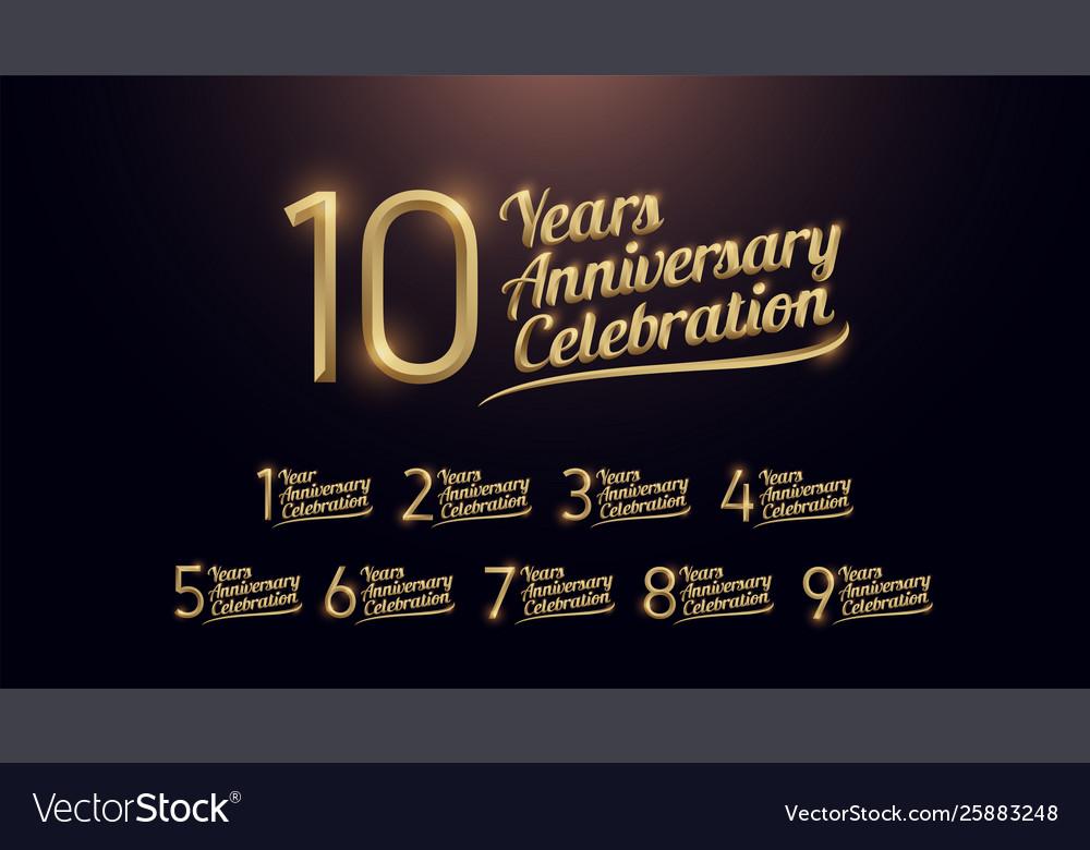 1 2 3 4 5 6 7 8 9 10 years anniversary