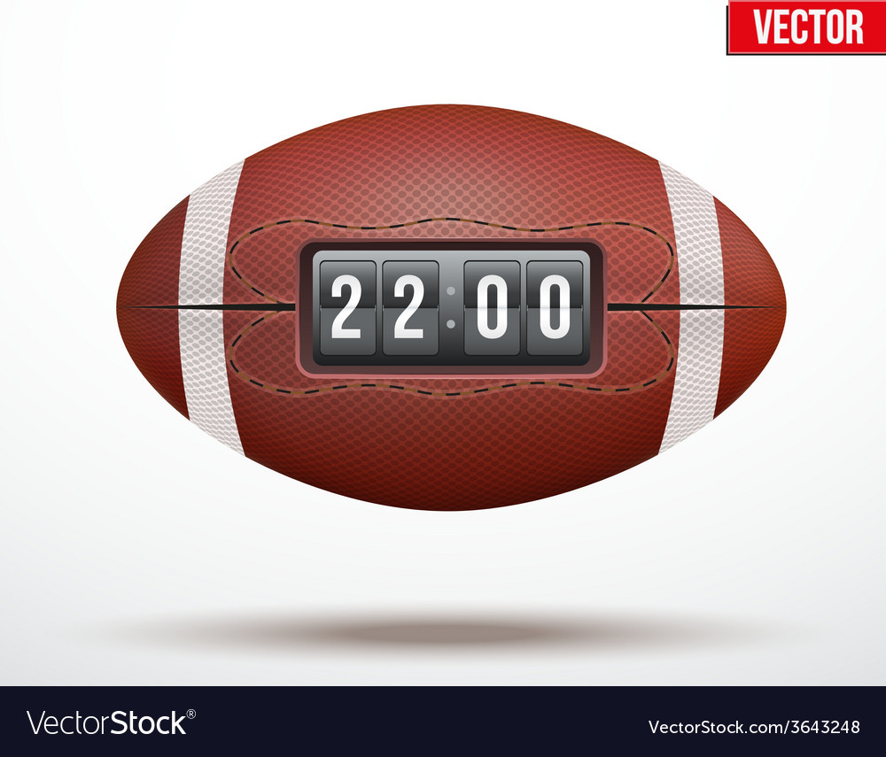 American Football ball with score of the game vector image