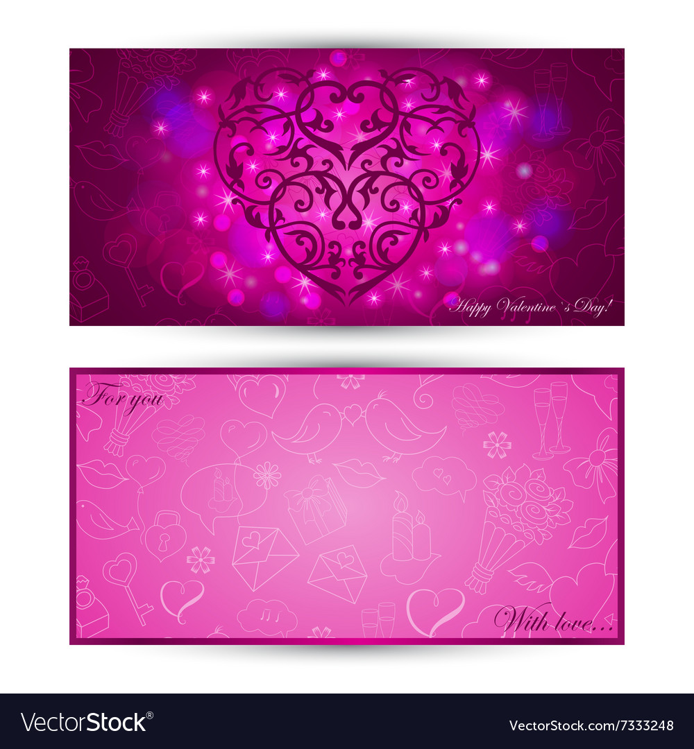Card with heart on festive background vector image