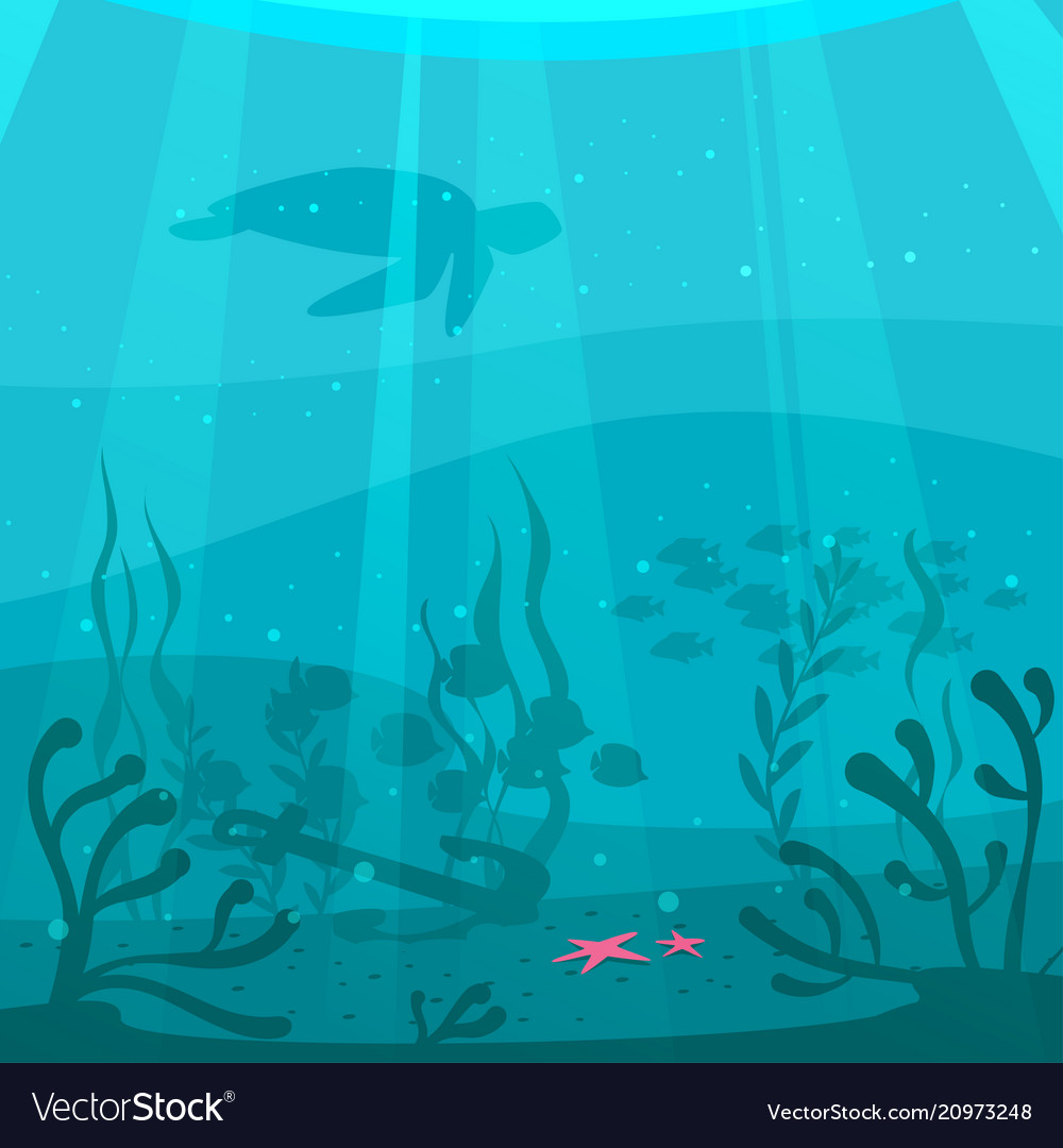cartoon style underwater background royalty free vector