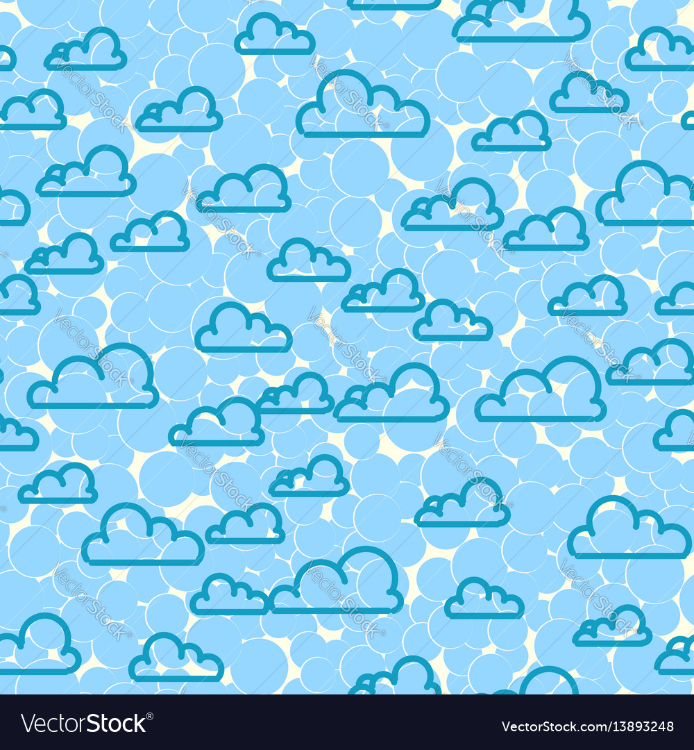 Cloud sky seamless pattern cartoon weather