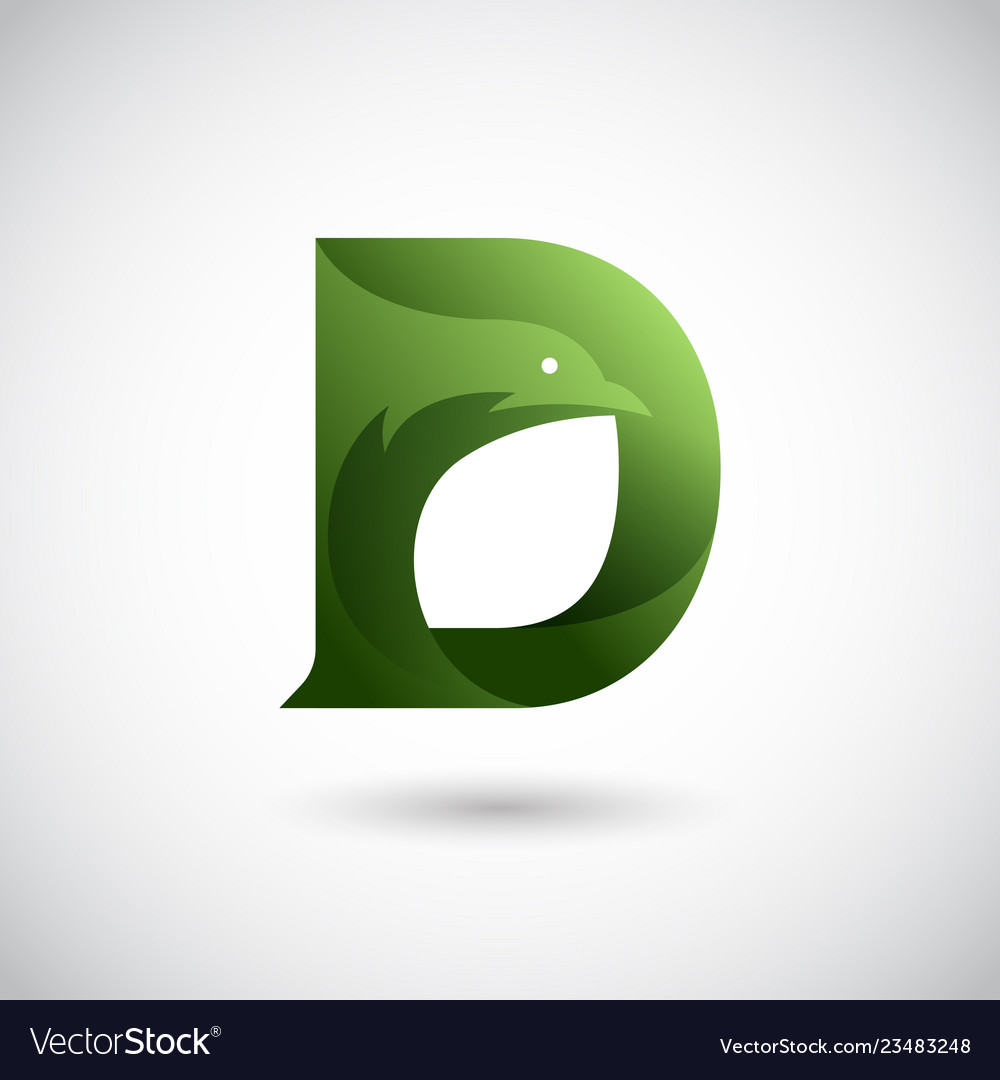 Letter d with dove logo concept creative and