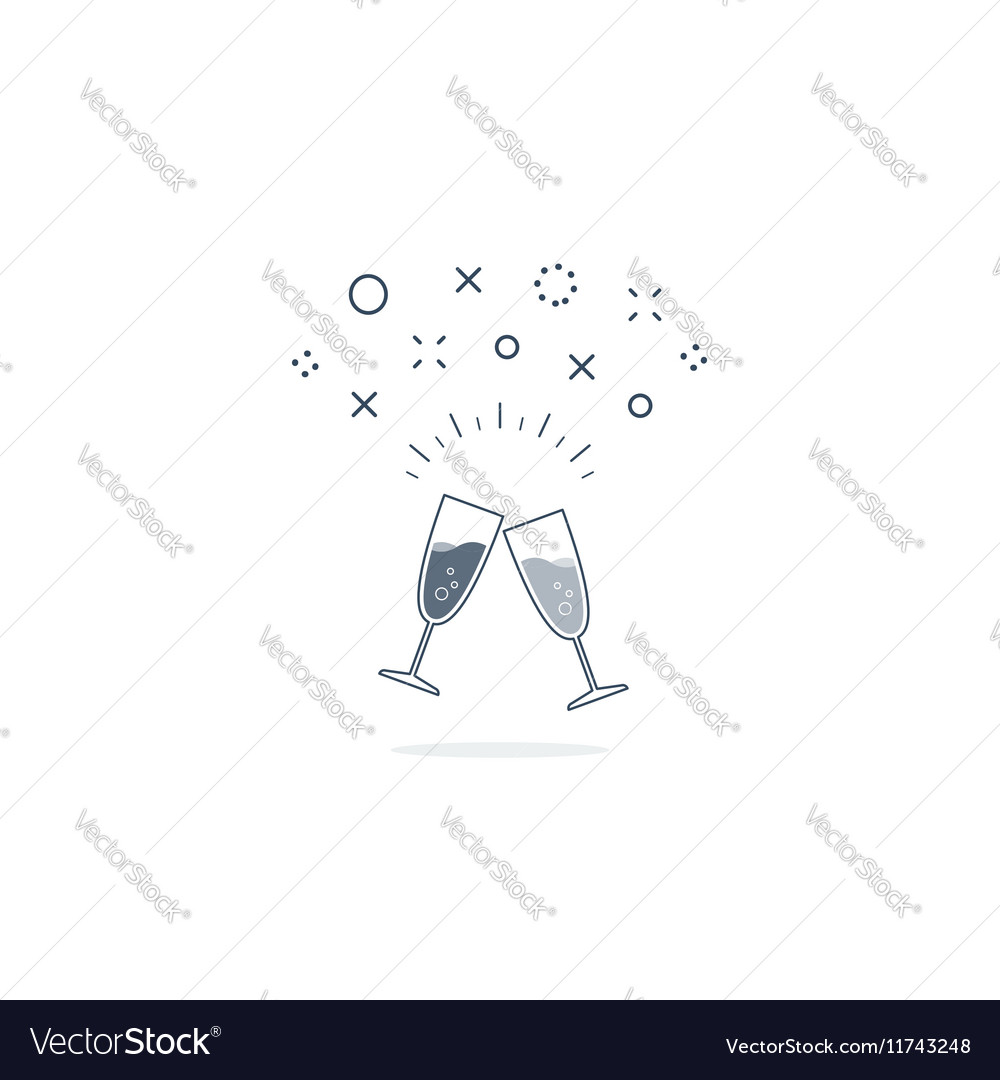 Party and celebration event icon vector image
