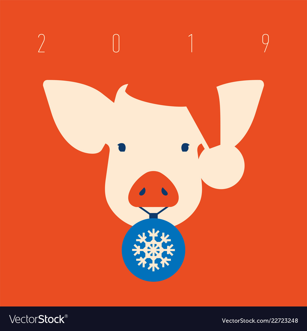 Pig icon piggy a symbol 2019 chinese new