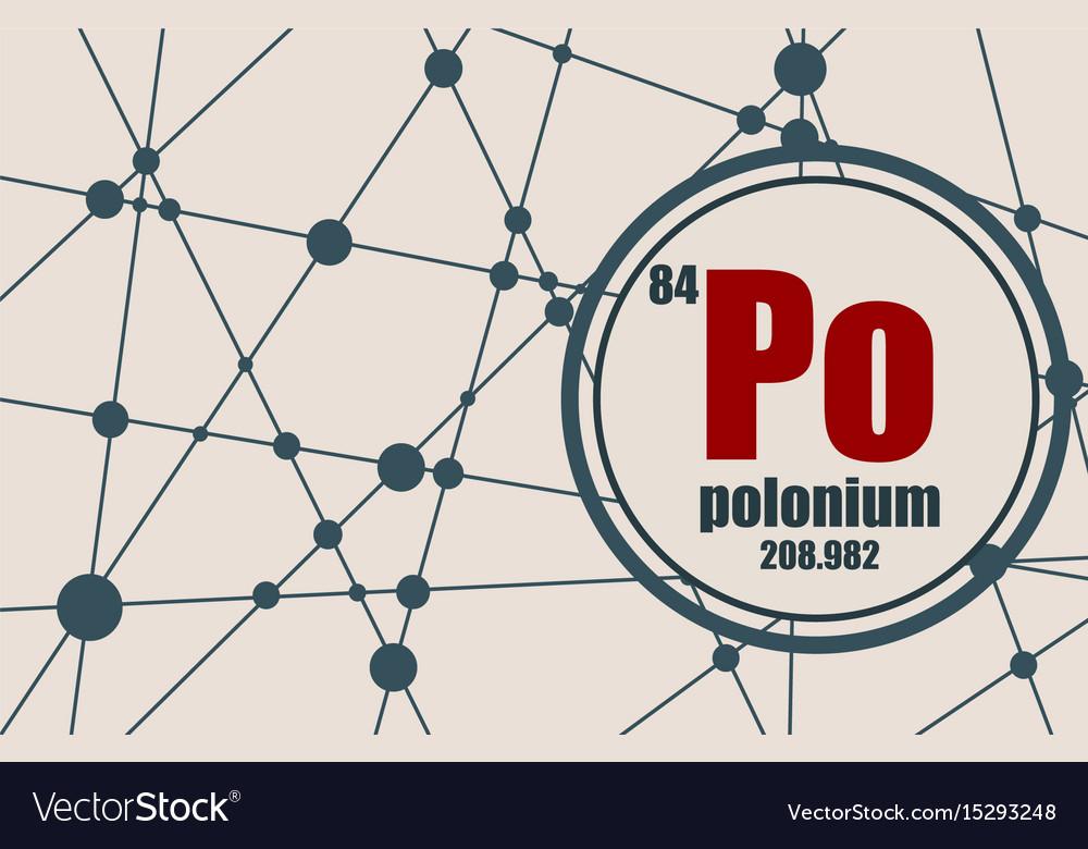 Polonium chemical element vector image