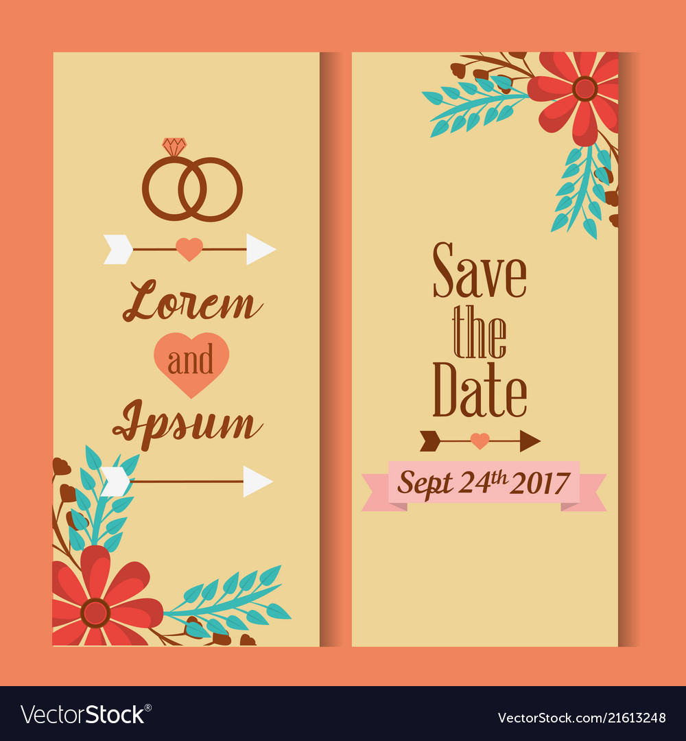 Save The Date For Personal Wedding Invitation