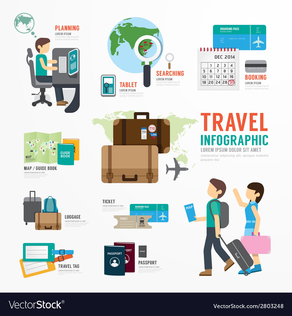 World Travel Business Template Design Infographic