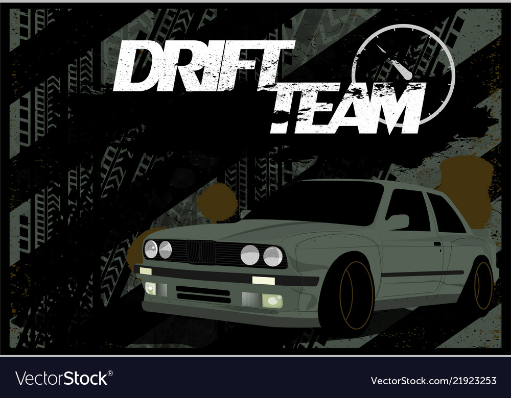 A dirty banner car background in grunge style