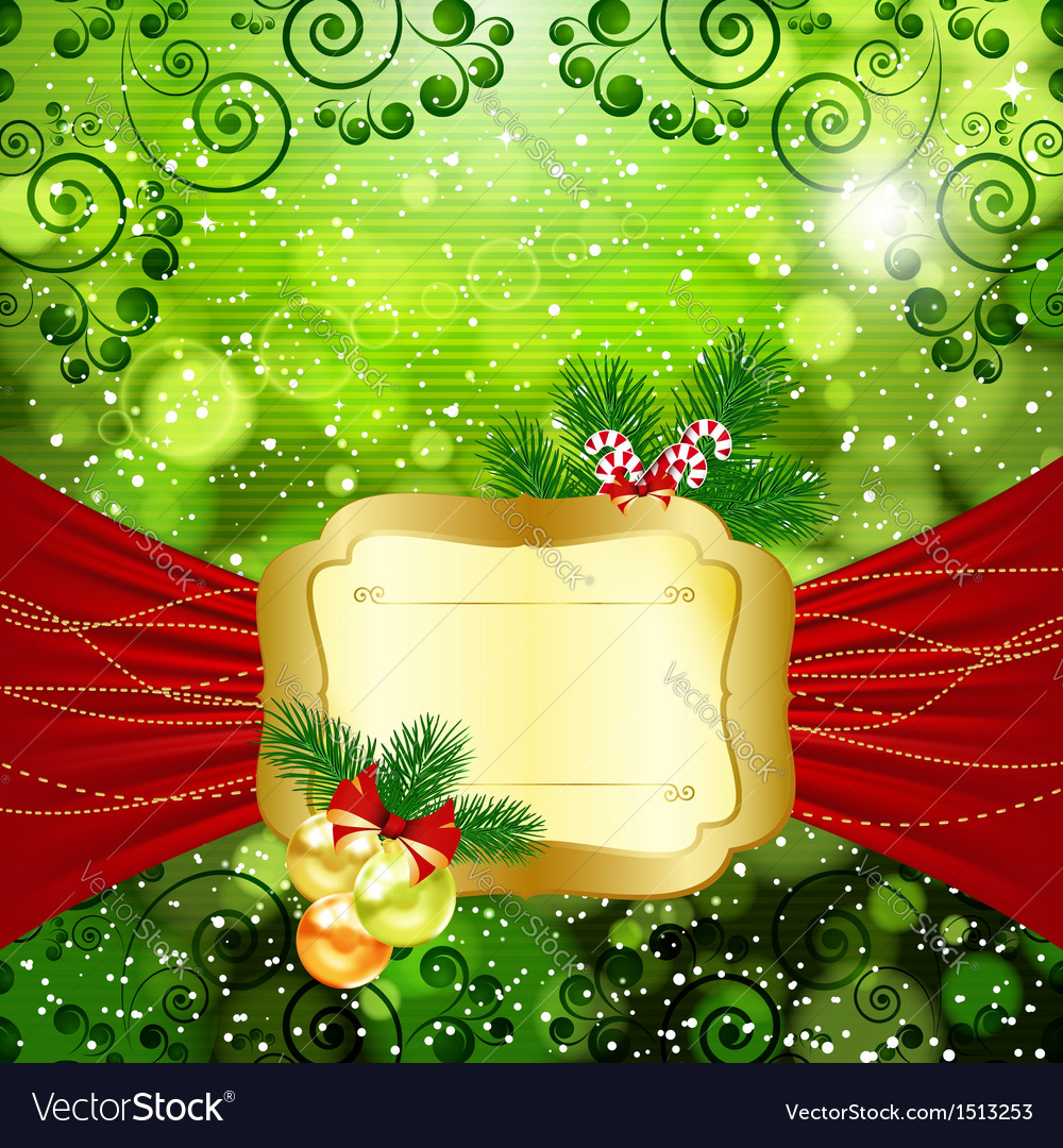 Christmas bright background vector image