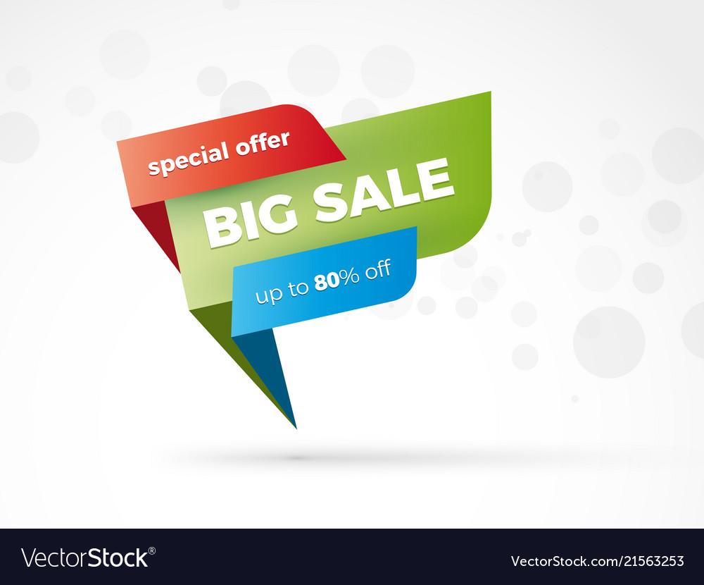 Discount color speech sign