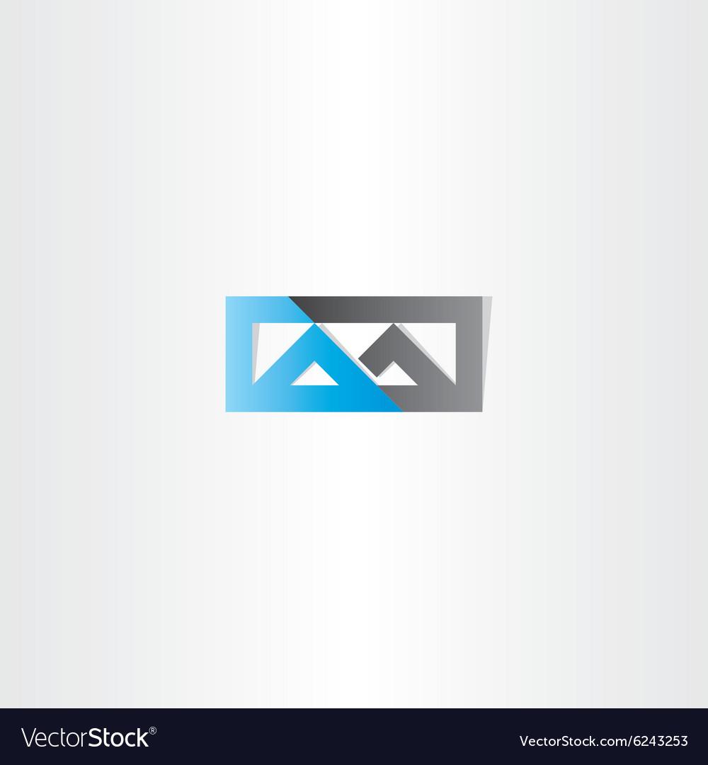 Logo m letter m blue black icon