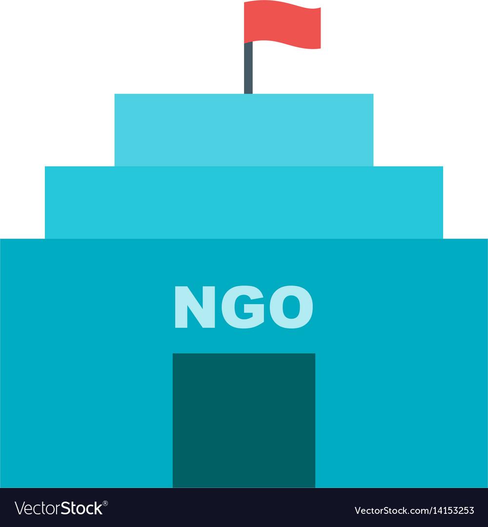 Ngo building vector image