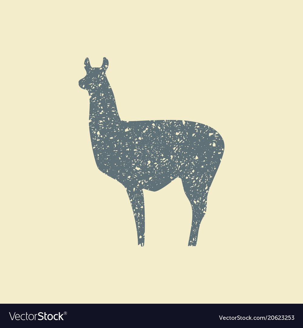 Silhouette of lama