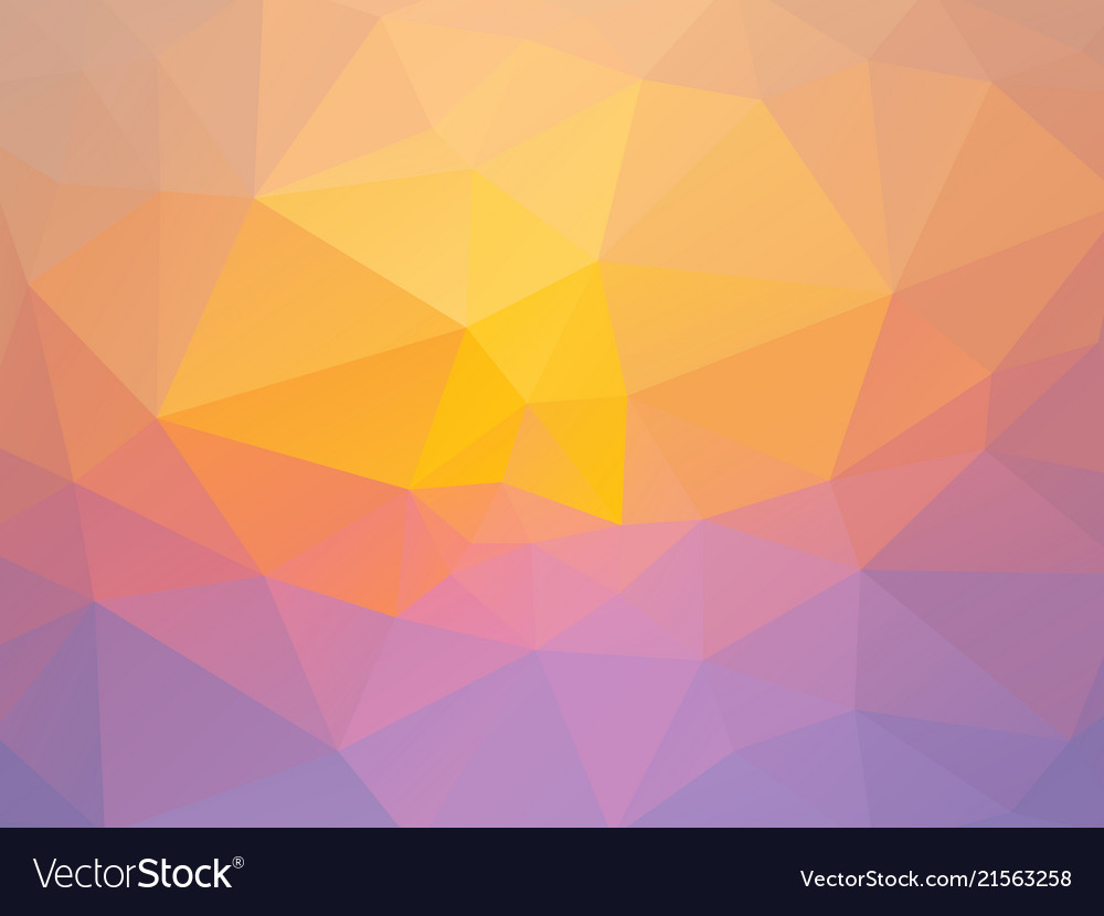Abstract pink yellow triangles background