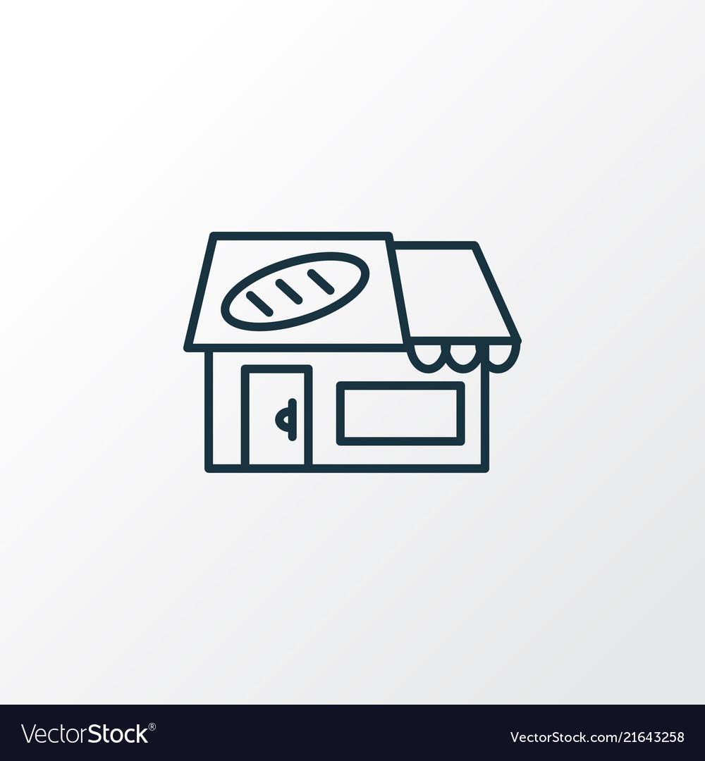 Bakery icon line symbol premium quality isolated