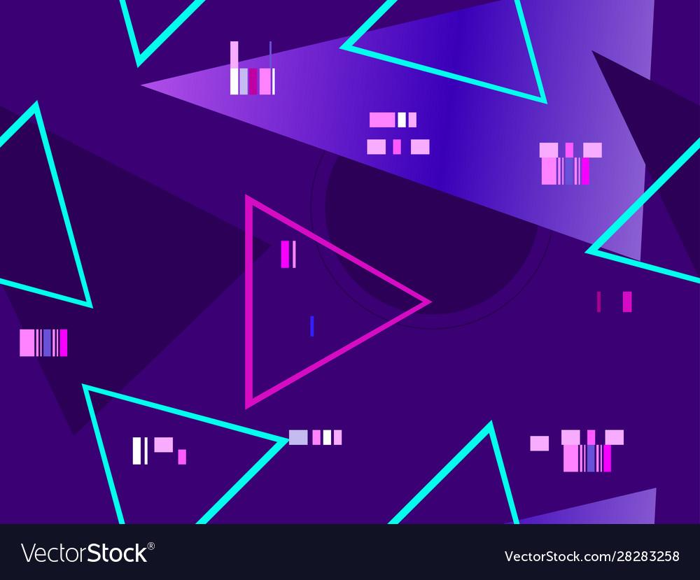 Cyberpunk seamless pattern retro futurism