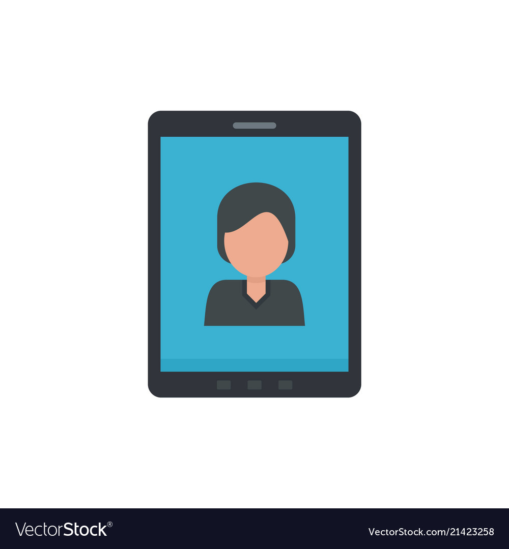Device video call icon flat style