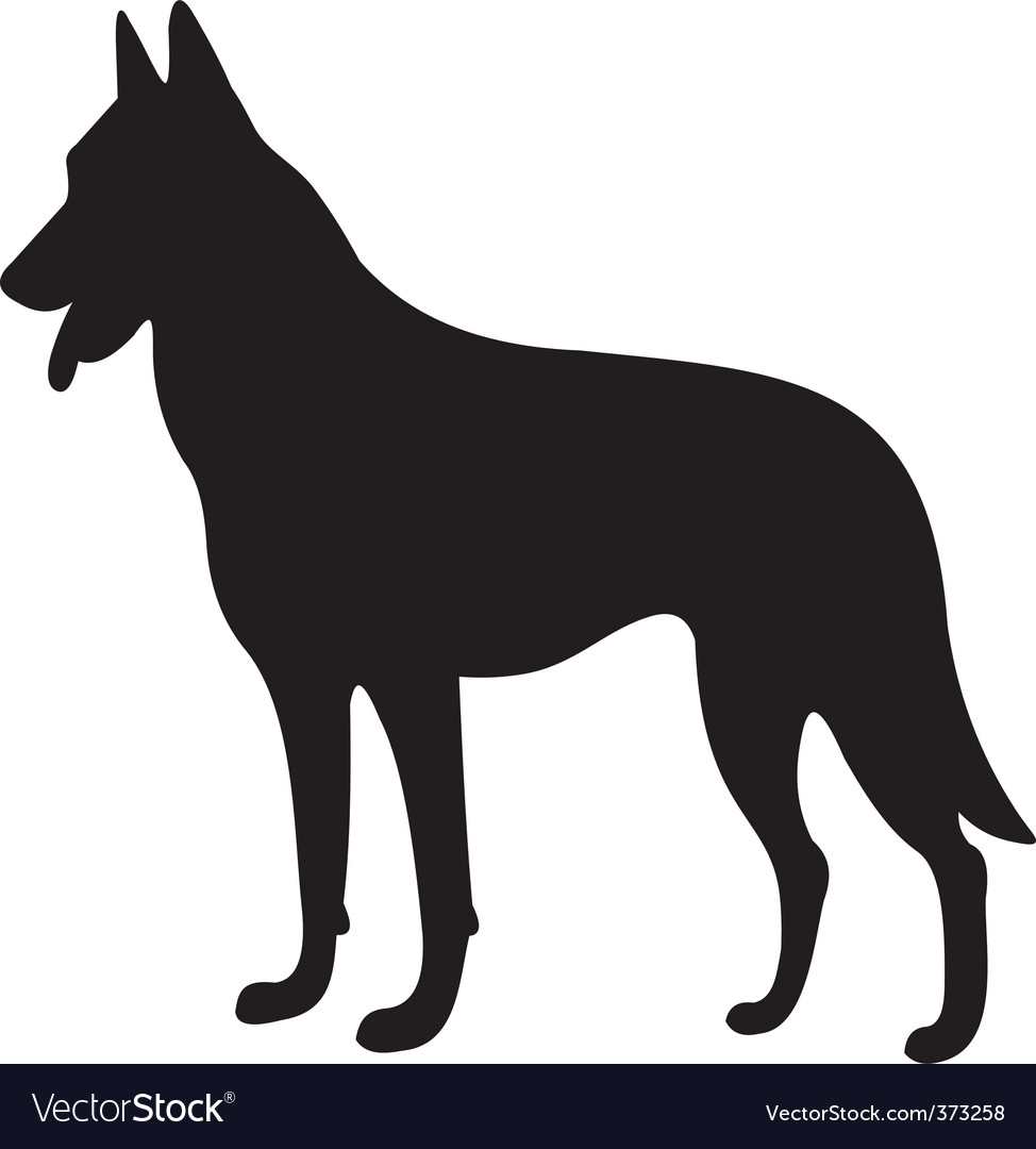 dog silhouette royalty free vector image vectorstock rh vectorstock com dog silhouette vector free dog head silhouette vector