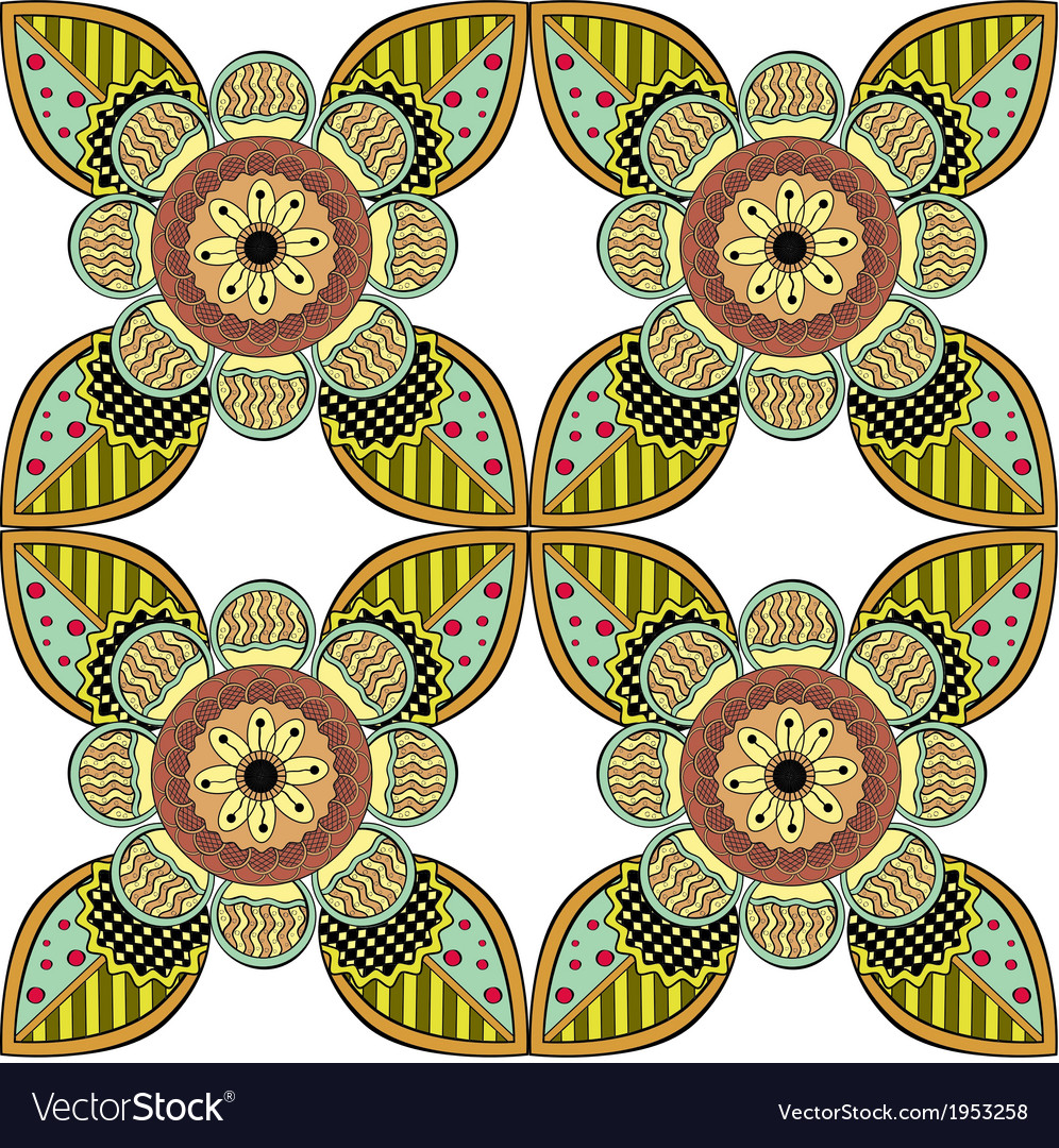 Lace Endless Seamless Pattern vector image